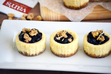 Gluten Free Granola Mini Cheesecakes