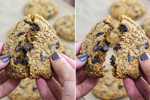 Gluten Free Oatmeal Chocolate Chip Cookies Image