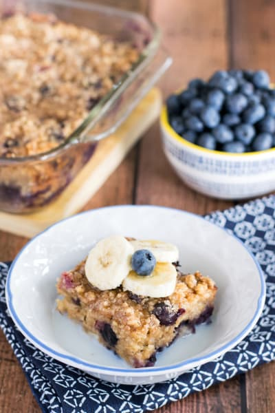 Blueberry Banana Baked Oatmeal Picture