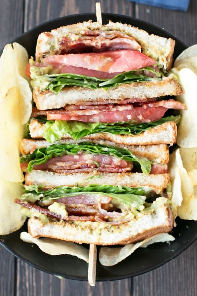 The Perfect BLAT with Spicy Candied Bacon Pic