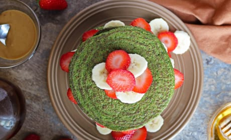 Green Smoothie Pancakes Photo