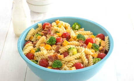 Bacon Cheddar Ranch Pasta Salad Recipe