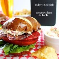 Pimento Cheese, Bacon, Lettuce, & Tomato Sandwich