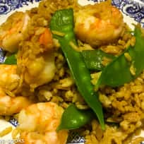 Shrimp Fried Rice with Snow Peas - One Pan - Quick and Easy - Gluten Free