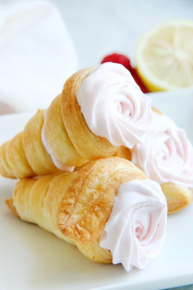 Lemon Raspberry Cream Horns Pic