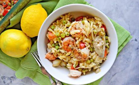 One Pan Lemon Artichoke & Shrimp Orzo Pic