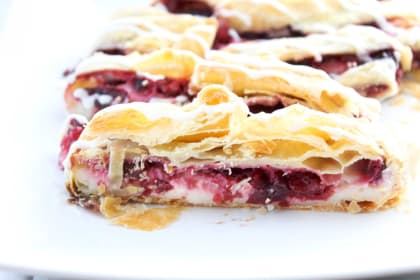 Cherry Cream Cheese Danish Braid