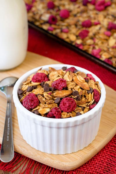 Raspberry Chocolate Chip Granola Pic