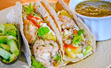 Jerk Fish Tacos with Pineapple Slaw Image