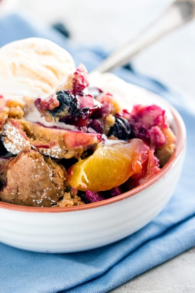 Oatmeal Cookie Blueberry Peach Cobbler Image