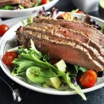 Miso Marinated Steak Salad with Avocado Recipe