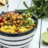 Avocado Lime Roasted Chickpea Salad Recipe