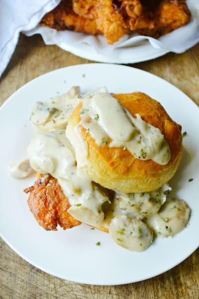 Chicken Biscuits with Mushroom Gravy Picture