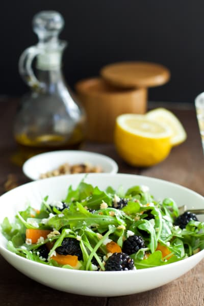Arugula Blackberry Salad Pic