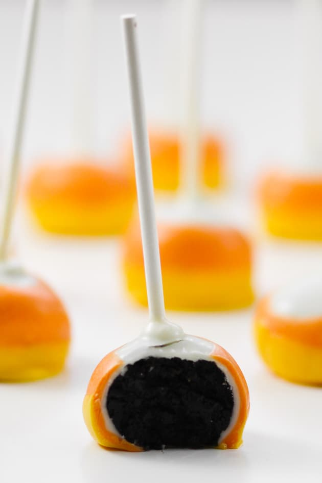 Candy Corn Oreo Pops Picture