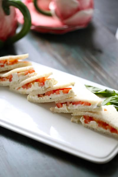 Tomato Feta Tea Sandwiches Picture