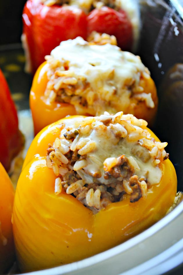 Slow Cooker Stuffed Peppers with Beef Picture