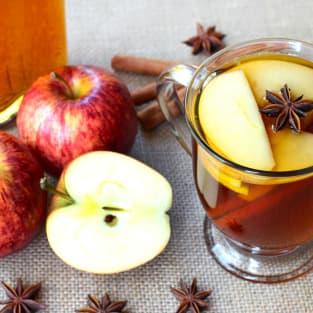 Apple brandy hot toddy photo