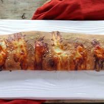 Roasted Red Pepper Prosciutto Stromboli Recipe