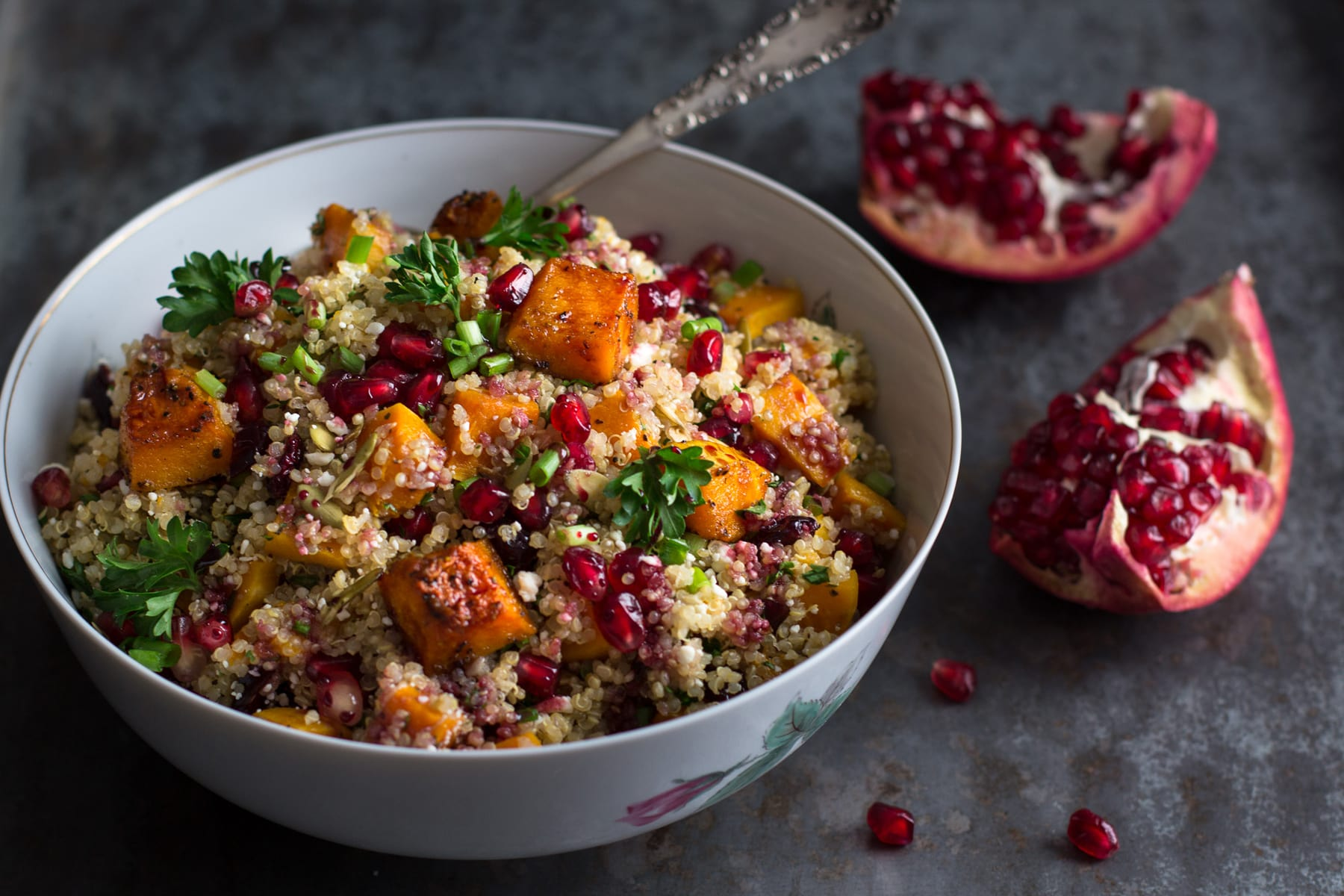 Roasted Butternut Squash Quinoa Salad - Food Fanatic