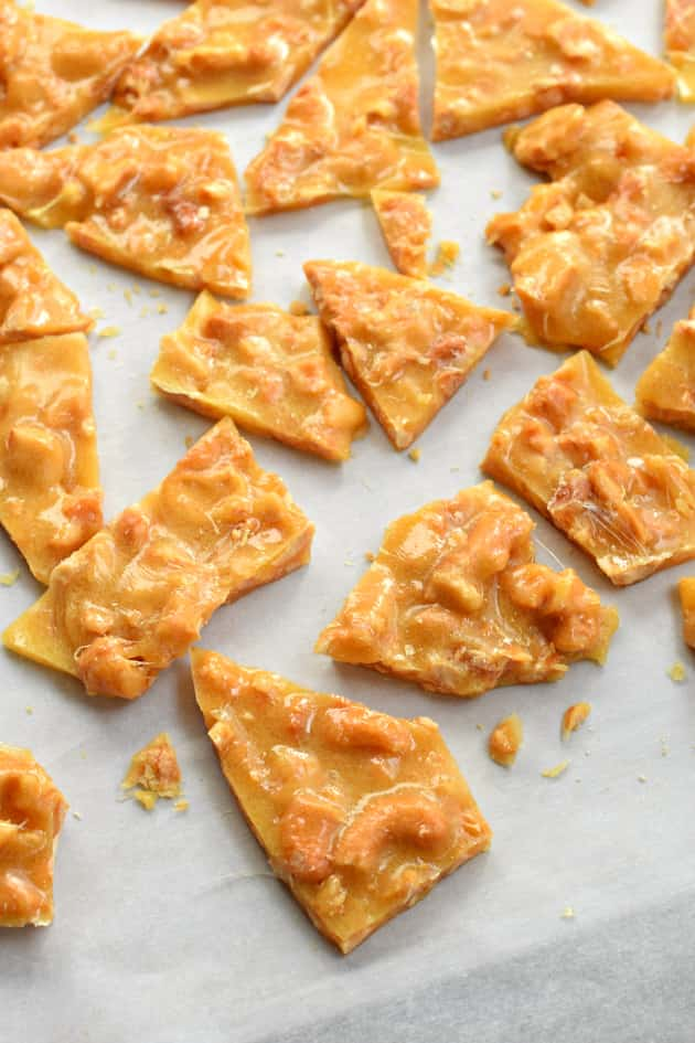 Cashew Brittle - Food Fanatic