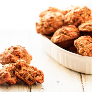 Zucchini carrot muffins photo