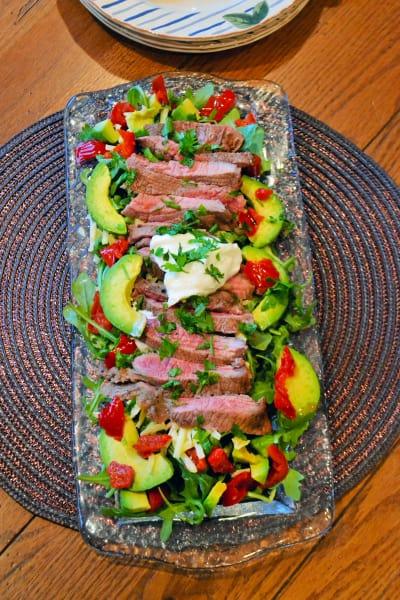 Carne Asada Salad Picture