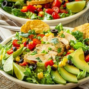 Chicken taco salad photo