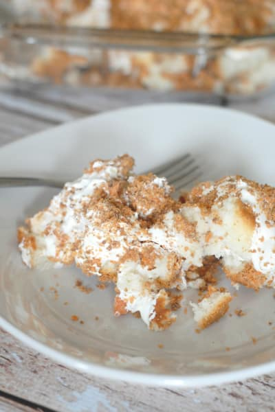 Butterfinger Cake With Angel Food Cake