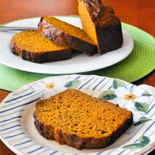 Healthy pumpkin bread photo