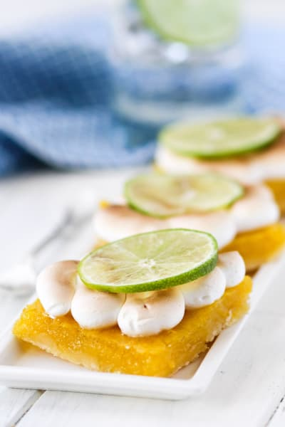 Key Lime Pie Meringue Bars Picture