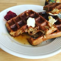 Waffles with Rolled oats and Olive oil