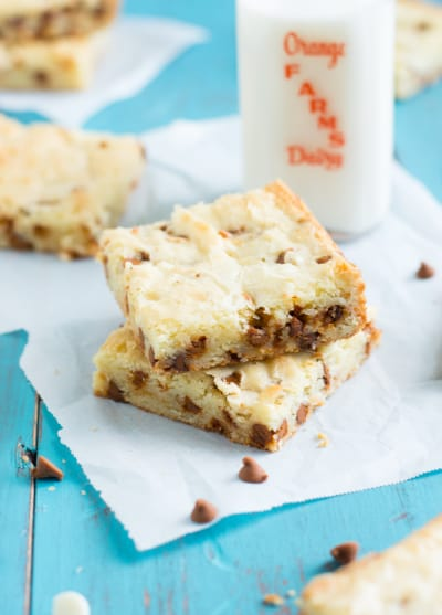 White Chocolate Brownies with Cinnamon Chips Image