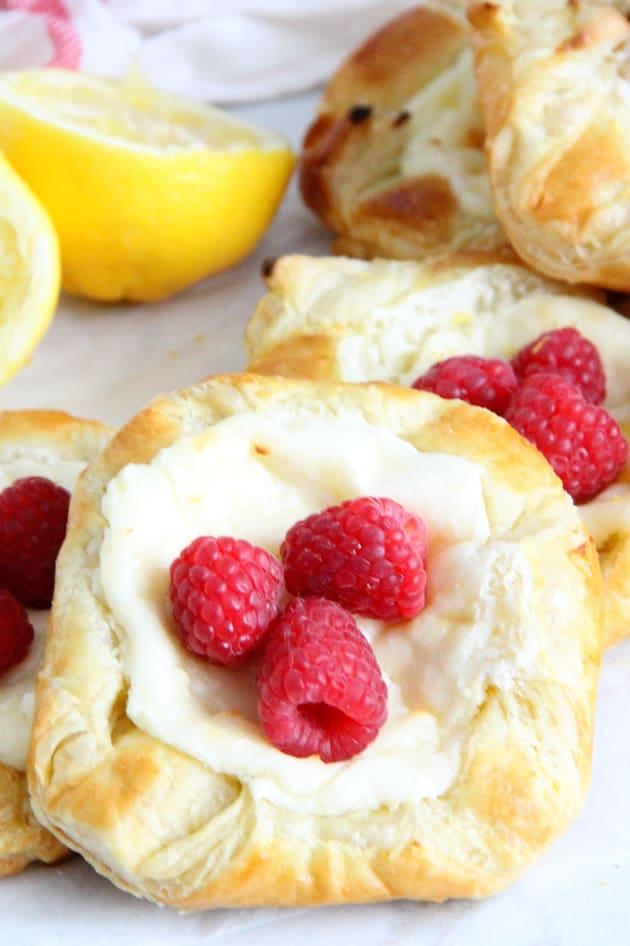 Lemon Raspberry Danish Picture