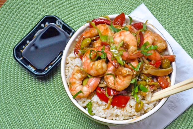 Asian Shrimp Rice Bowls Image