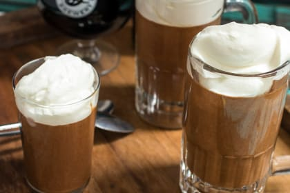 Chocolate Stout Mousse with Whiskey Cream