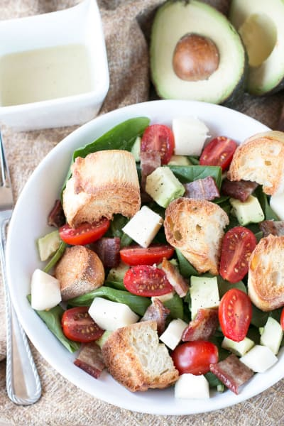 Avocado Caprese Panzanella Salad Image