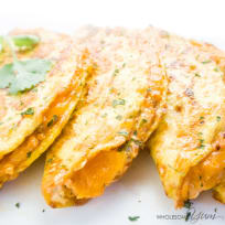 Spicy Cauliflower Quesadillas (Low Carb, Gluten-free)
