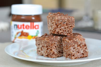 Salted Nutella Crunch Bars