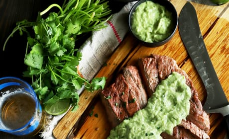 Chipotle Flank Steak with Avocado Salsa Image