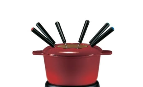 Swissmar Sierra 11 piece Cast Iron Fondue Set - Cherry Red