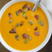 Paleo Butternut Squash and Bacon Soup Recipe