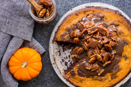 Bourbon Brownie Pumpkin Pie