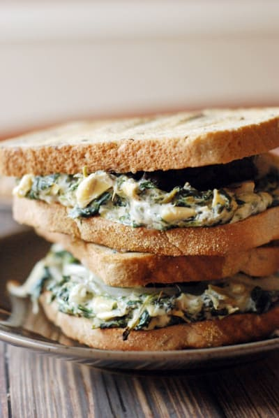 Spinach Artichoke Patty Melt Pic