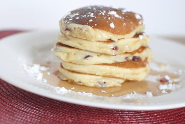 Cranberry White Chocolate Chip Pancakes Image
