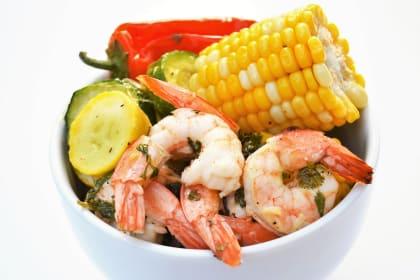 Sheet Pan Roasted Shrimp and Summer Vegetables Recipe