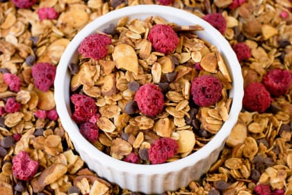 Raspberry Chocolate Chip Granola Recipe
