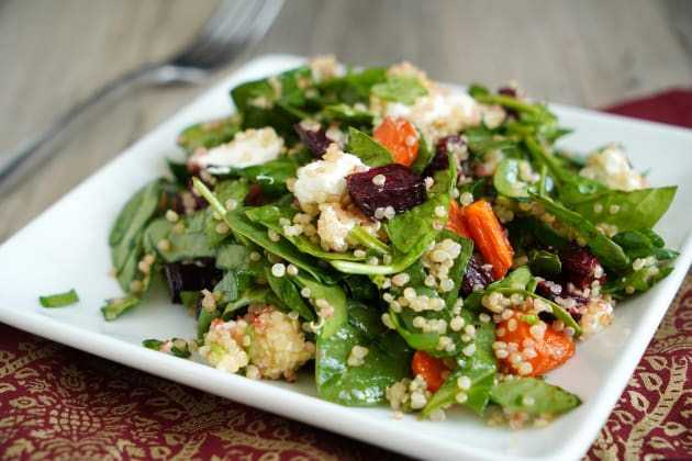 Roasted Beet and Carrot Quinoa Salad Photo