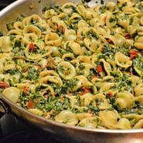 Pasta Florentine with Orecchiette Recipe