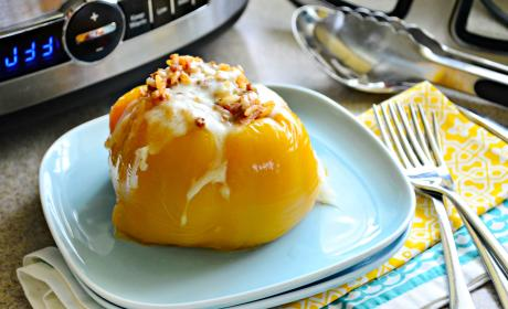 Slow Cooker Stuffed Peppers with Beef